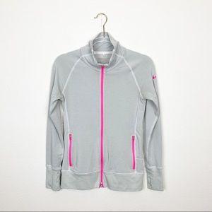 Nike Golf Gray & Pink Zip Up Sweatshirt Sz Small